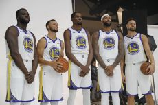 Los jugadores de Golden State Warriors