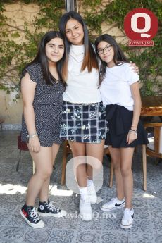 Paula Contreras, Sofía González y Melissa Cortés