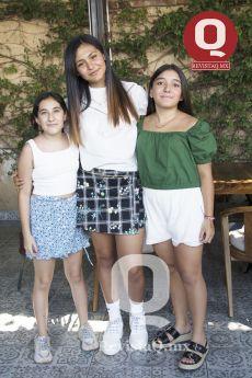 Sofía Campos, Sofía González y Sandra Velázquez