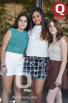 Sofía Iriarte, Sofía González y Valentina Vallejo.