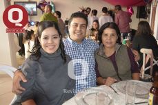 Cecilia Ramírez, Jorge Ramírez y Cristina Morales.