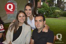 Andrea López con Andrea Ruiz y Gerardo Villalobos