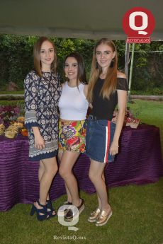 Victoria Loza, Andrea López y Paulina Salum