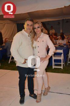 Joaquín García con Mónica Cruces