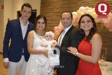 Gibrán Sánchez, Aira Sánchez, Bárbara Azua, Arturo Azua y Samantha Azua