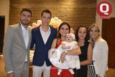 Abner Sánchez, Gibrán Sánchez, Samantha Azua, Marcela Azua, Leslie Sánchez y Bárbara Azua