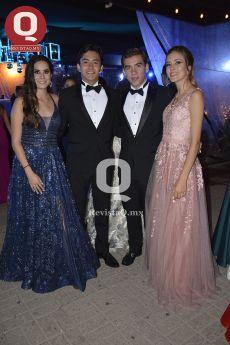 Abi Atilano, Alonso Barroso, Sebastián Alvarado y Sofía Belío