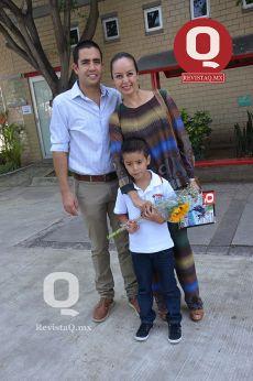 José Ramón Malacara, Karina Granados y Elian Malacara