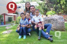 Lety Lemus, Noé González, Noé González, Ián González y Mia González