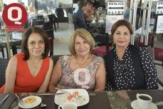 Coco Muñoz, Rosy Canchola y Juani Hernández