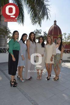 Tatiana Márquez, Ariadna Márquez, Mónica Márquez, Farah Márquez, Paty Pérez y Carla Márquez
