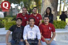Christopher Rodríguez, Francisco Hernández, Erika Ojeda, Paco Perrusquia, Luis Eduardo Rodríguez y Mario Pérez