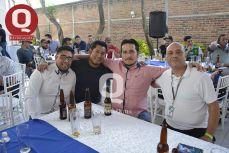 Carlos Rocha, Francisco Villanueva, Lizandro Martínez y David Fonseca