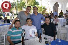 Jesús Castro, Fernando Ramírez, Carlos Nicasio, Iván Castillo y Juan Alberto Miranda
