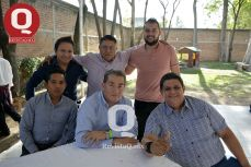 José Luis Acosta, Francisco Villa, Erick Arenas, Luis Cruz, Miguel Estrada y Francisco de Silva