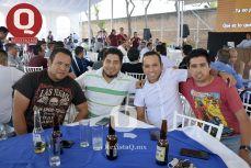 Lenin Roldán, Mario Hernández, Mario Jaramillo e Isaac Ferrusca