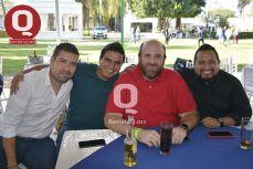 Michel Romero, Abraham Campos, José Martínez y Edgar Ángeles