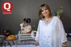 Rosa Laura Vázquez en su fiesta de cumpleaños