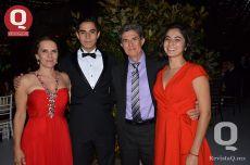 Olga González, Christopher Jiménez, Alfonso Jiménez e Ingrid Jiménez