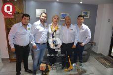 Jorge Valencia, Enrique Valencia, Nilda Rosales, Ing. Enrique Valencia y Miguel Valencia