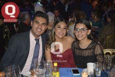 Carlos Medina, Daniela Tavira y Carolina Rodríguez