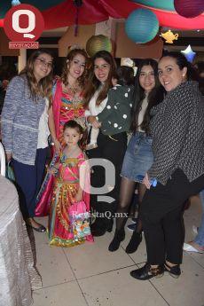 Gisela Romo, Lucero González, Hilda Silva, Denise Almaraz, Denise Oliva y la festejada Lucerito.