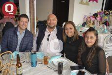 Miguel Ángel Loza, Rosendo López, Yadira Hurtado y Eunice Hurtado.