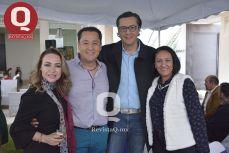 Cecilia Treviño, Mario Morales, Luis Morales y Zohe Alba