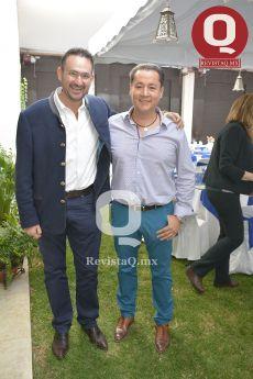 Eduardo Bravo junto a Mario Morales