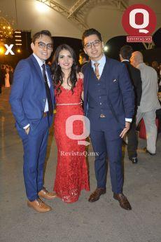 Alejandro Marrufo, Viridiana Gómez y Alberto Martínez Tejada