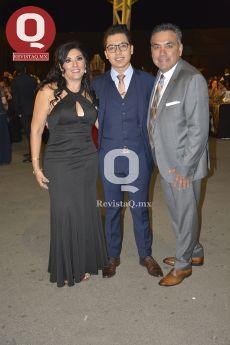 Karla Tejada, Alberto Martínez y Juan Carlos Martínez