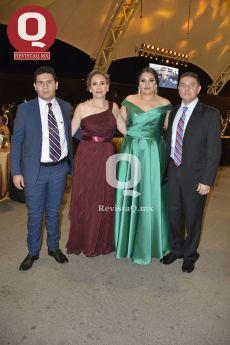 Roberto Santos, Claudia Santos, Sara Santos y Roberto Remus