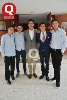 Óscar Romo, Maru Escobar, Marcelo Reynoso, Marcelo Aguirre y Emiliano Márquez