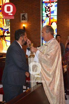 El P. Patrick O'Connel con Gerardo Aguirre