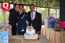 Marcelo Aguirre con sus hermanos, Thalía Aguirre y Alan Gerardo Aguirre