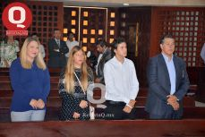 Thalía Jiménez de Márquez, Regina Márquez, Emiliano Márquez y Martín Márquez