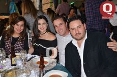 Lucero Vega, Claudia Muñoz, Carlos Padilla y Eugenio Argote