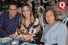 Omar López, Selene Moguel y María Teresa Estrada