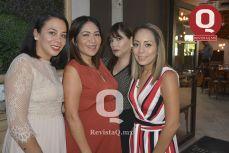 Paola Nava, Mariana Pérez, Gloria Rodríguez y Janteh Godínez
