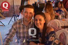 Hugo Zapién con Sandra Cuéllar