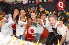 Claudia Fonseca, Rosy Vallejo, Fatima Salazar, Mayra Doma y Sor Esperanza