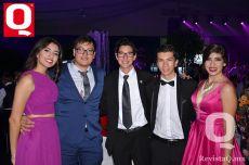 María Chavarría, Daniel Godínez, Adrián Gómez, Juan Pablo Peredo y Romina Ramírez