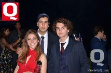 Paulina Durán Botello, Luis Santos y Jorge García