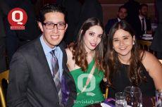 Luis Delgado, Celeste Campos y Mariana Aboytes