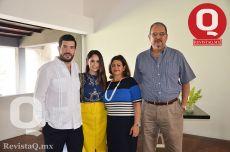 Roberto Vallejo, Natalia Moreno, Lucía Rábago y Roberto Vallejo