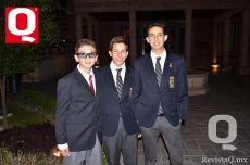 A   Carlos Latabán, Christian Zepeda y Juan Pablo Ramírez
