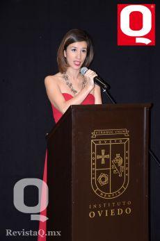 Paola Rebollo agradeció el apoyo de su equipo de trabajo, en la 2a Semana Cultural Oviedo