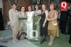 Laura Peña de Sánchez, Caro Luna de la Garza, Rosa D´amico, Adriana Peña, Cauddete Lozano y Julia Montiel.