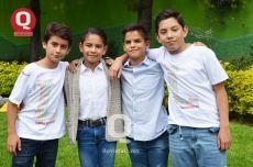 Paola Aguilar, Gabriel Orozco, Diego Marmolejo y Aarón Reyes
