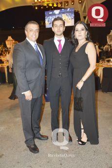 Alejandro Pacheco, Eugenio Pacheco y Miriam Flores